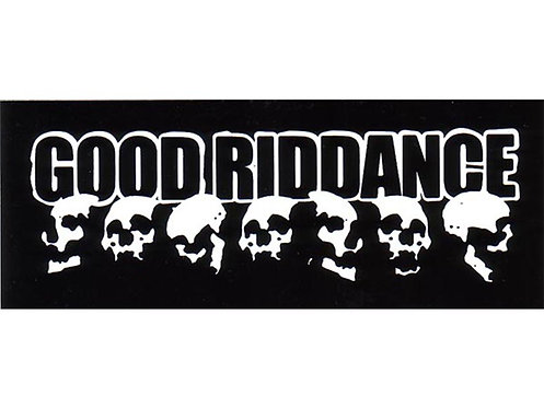 Good Riddance - DYI Skulls Sticker