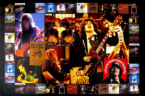 AC/DC - Tour Collage Poster