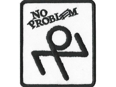 No Problem - Stickman Logo Embroidered Patch