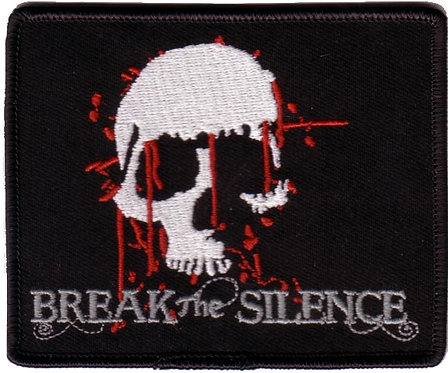 Break The Silence - Bleeding Skull Embroidered Patch