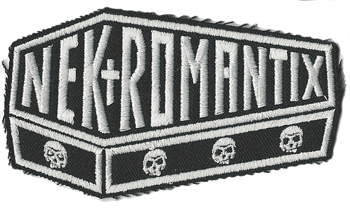 Nekromantix - Coffin Logo White Embroidered Patch