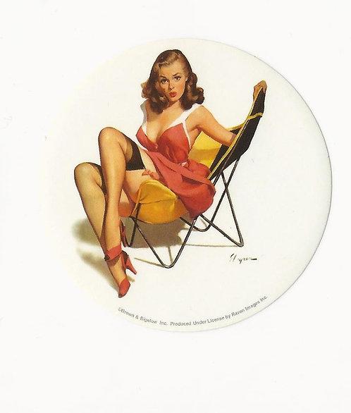Gil Elvgren - That Low Down Feeling Mini Sticker