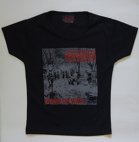 The Exploited - Dogs of War Cropped Ladies Tee
