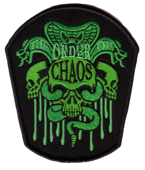 The Order of Chaos - Snake Skull Green Embroidered Patch