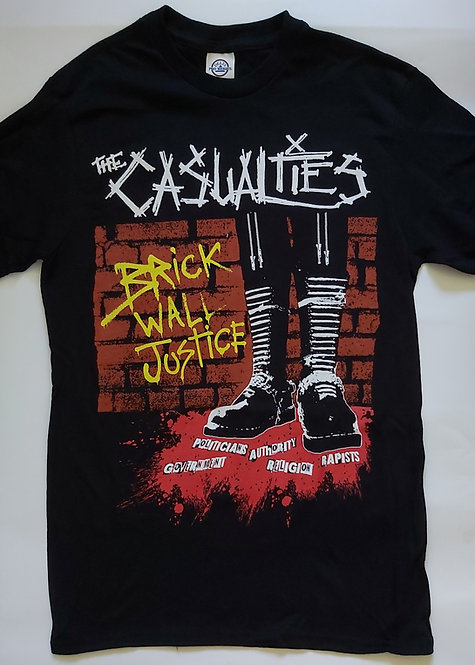 The Casualties - Brick Wall Justice T-Shirt
