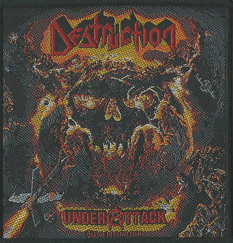 Destruction - Under Attack Woven Patch