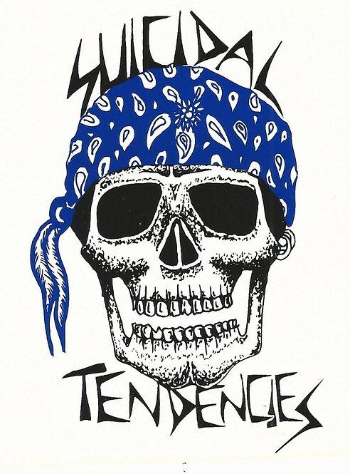 Suicidal Tendencies - Blue Skull Bandanna Sticker