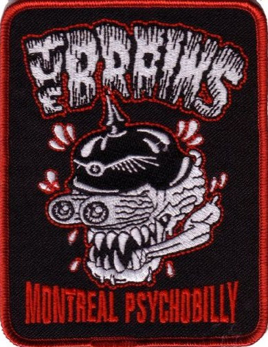 The Brains - Montreal Psychobilly Embroidered Patch
