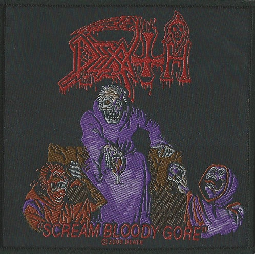 Death - Scream Bloody Gore Woven Patch