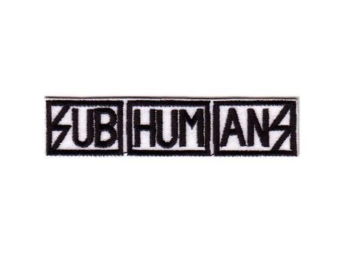Subhumans - Logo Embroidered Patch