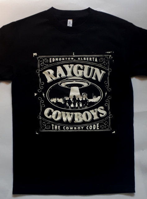Raygun Cowboys - Whiskey Label T-Shirt
