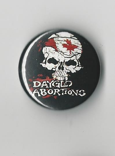 Dayglo Abortions - Canada Skull Pin