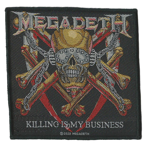 Megadeth - Killing is my Business Woven Patch