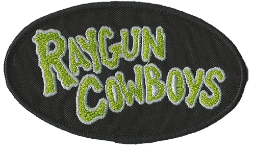 Raygun Cowboys - Green Logo Embroidered Patch