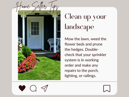 Seller Tip #2: Don't neglect the outside of your house!