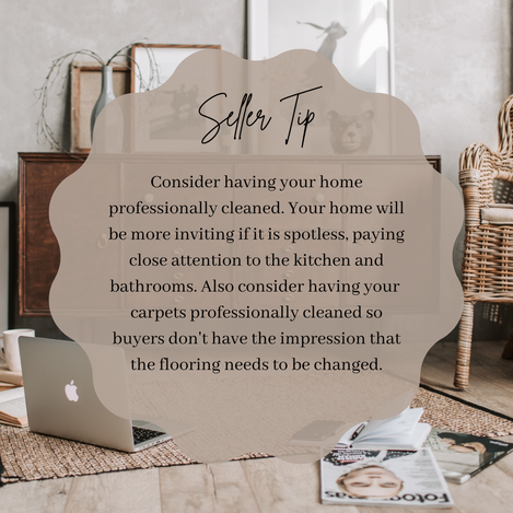 Seller Tip #1: Pro Cleaning