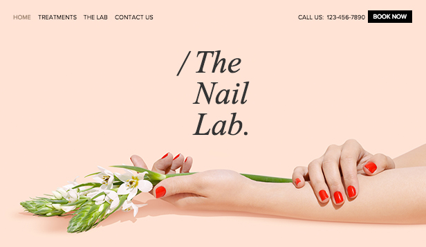 Mode en schoonheid website templates – Het nagellaboratorium