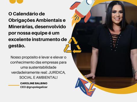 E-book CALENDÁRIO DE OBRIGAÇÕES AMBIENTAIS E MINERÁRIAS 2021 - INÉDITO