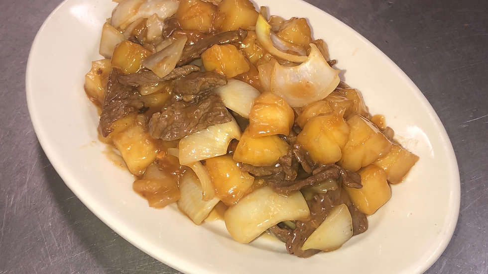 51. Beef with Pineapple & Onion