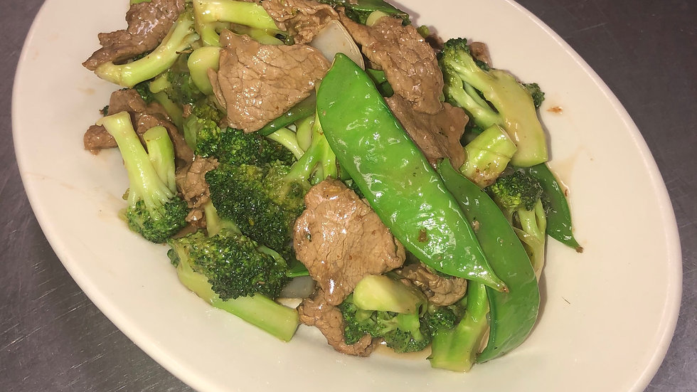 54. Beef with Broccoli and Peapods