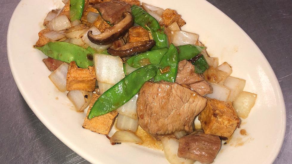 44. Pork Fried Bean Curd & Peapods