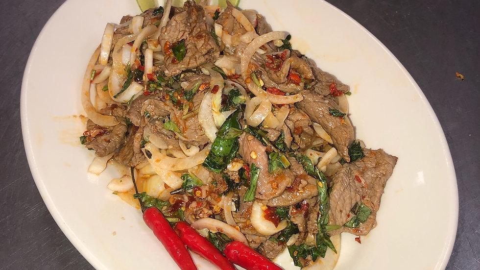170. Lime Beef (Bò Tái Chanh)