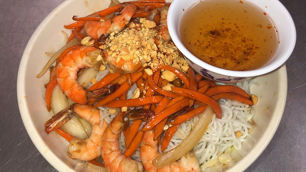 111. Rice Vermicelli with Sauteed Shrimp & Fresh Vegetables