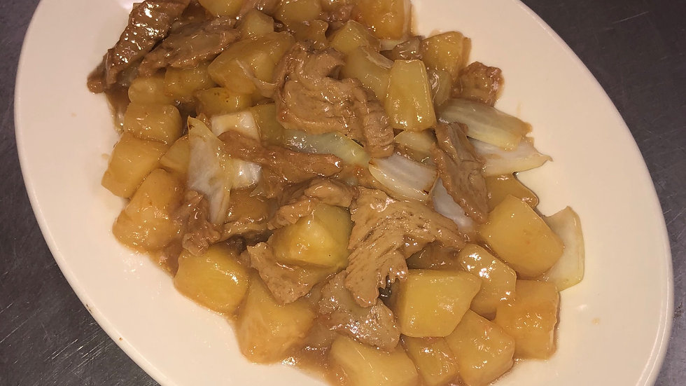 148. Mock Duck with Pineapple & Onions