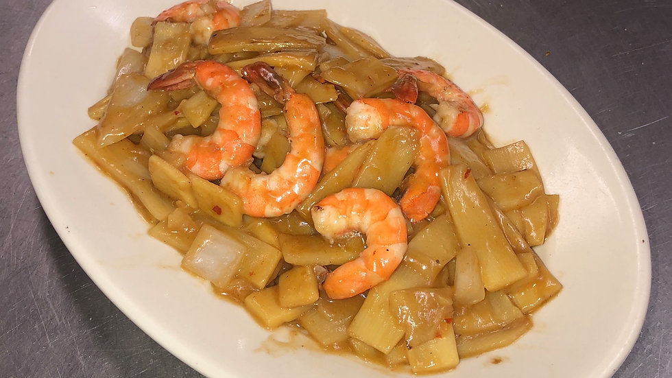 78A. Curry Shrimp with Bamboo Shoots, Onions& Coconut Milk