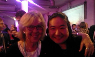 Alice with Elizabeth May at COP21 Paris 2015