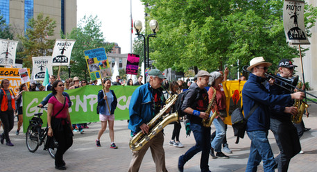 Alice marching for climate 2018