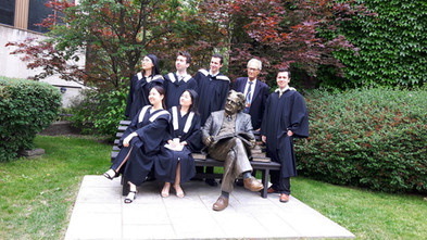 Alice with Vic One Stoweners at 2017 BSc Convocation UofT, Victoria College