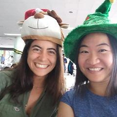 Alice and Arianna at CSIRO Christmas Par