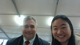 Alice with Professor Scharper at Paris Climate Summit 2015!