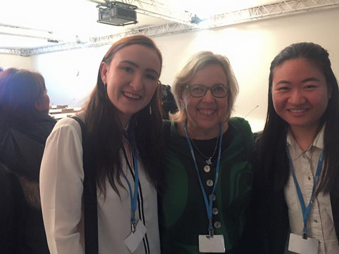 Alice and fellow UofT delegate with Elizabeth May in Paris 2015!