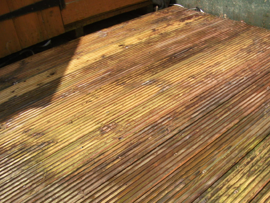 slippery decking