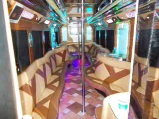 inside Limo Bus - River City Limos