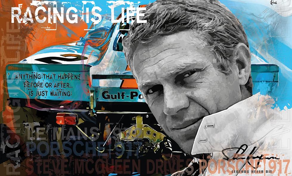 Steve McQueen drives Porsche 917