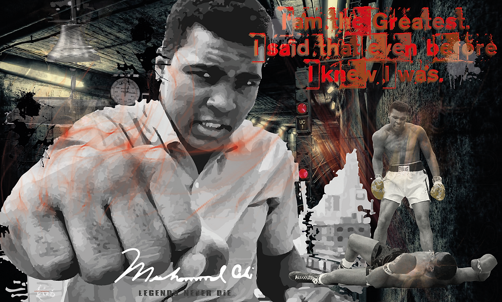 "Mohamad Ali ""Legends never die..."""