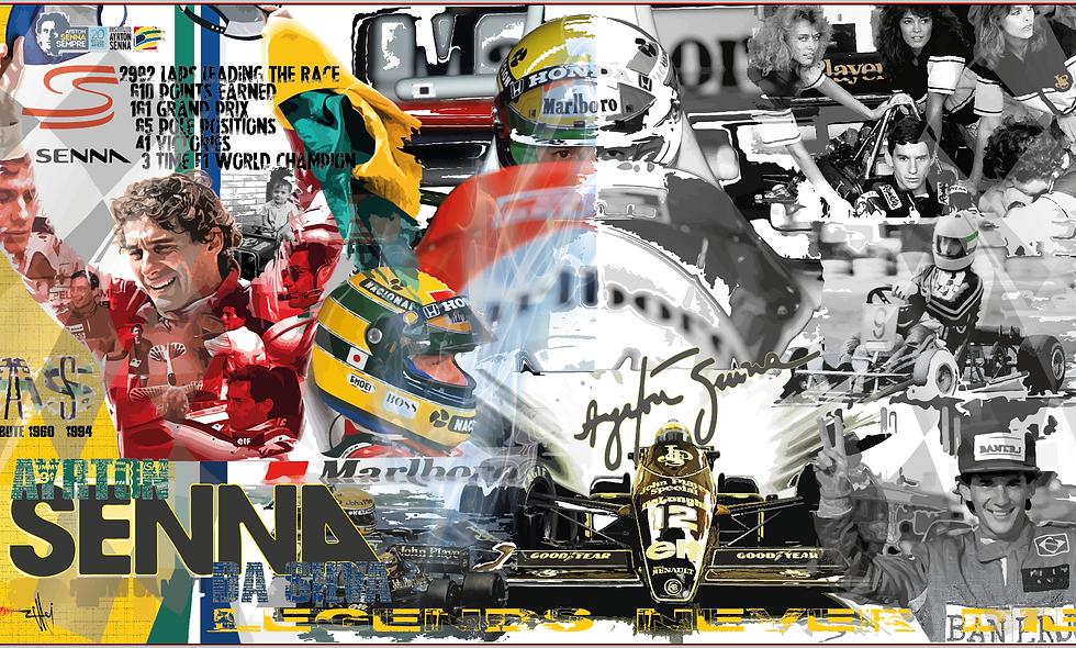 "Ayrton Senna ""Legends never die..."""