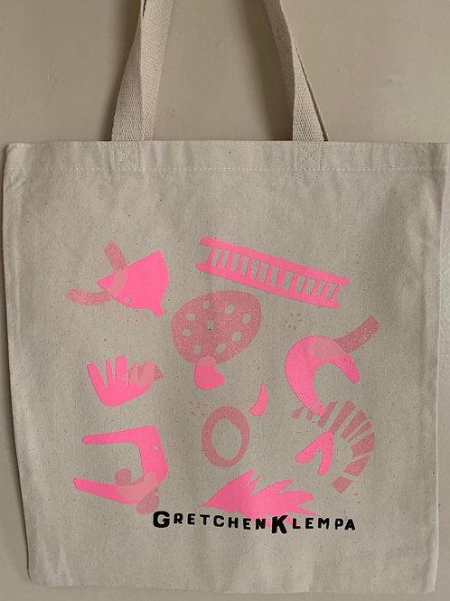 Pretty in Pink Canvas Tote Bag