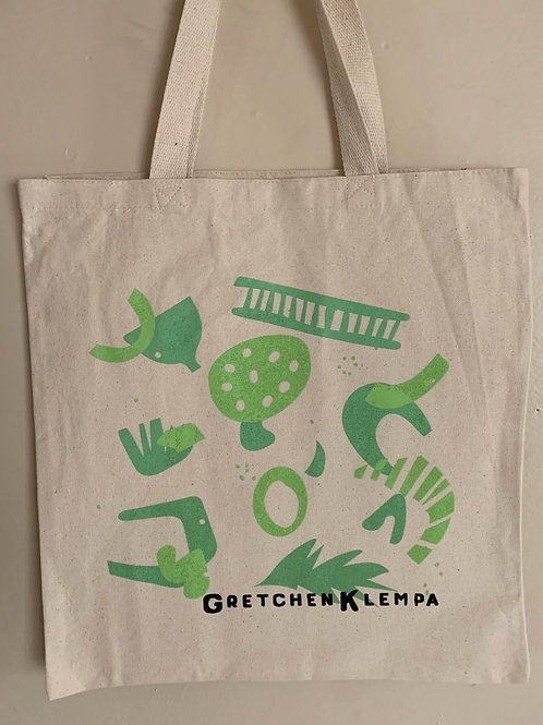 Green Canvas Tote Bag