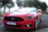 Shooting photo en Ford Mustang GT - service chauffeur en Ford Mustang GT