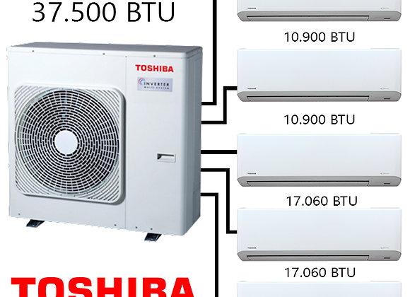 Toshiba Multi Klima 5 li Kombinasyon 1 37.500 BTU Dış+3 Ad.*10.900 BTU İç+2 Ad.*
