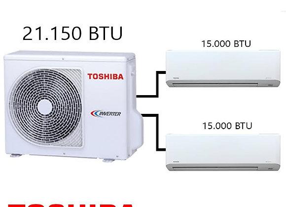 Toshiba Multi Klima 2 li Kombinasyon 21.500 BTU Dış +2*15.000 BTU İç Ünite