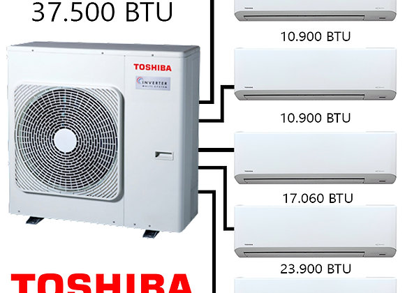 Toshiba Multi Klima 5 li Kombinasyon 2 37.500 BTU Dış+3 Ad.*10.900 BTU İç+17.000