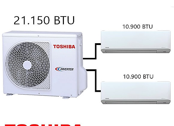 Toshiba Multi Klima 2 li Kombinasyon 21.500 BTU+2*10.900 BTU