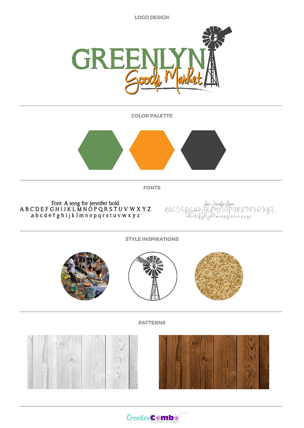 Greenlyn Goods Market Company Brand Design