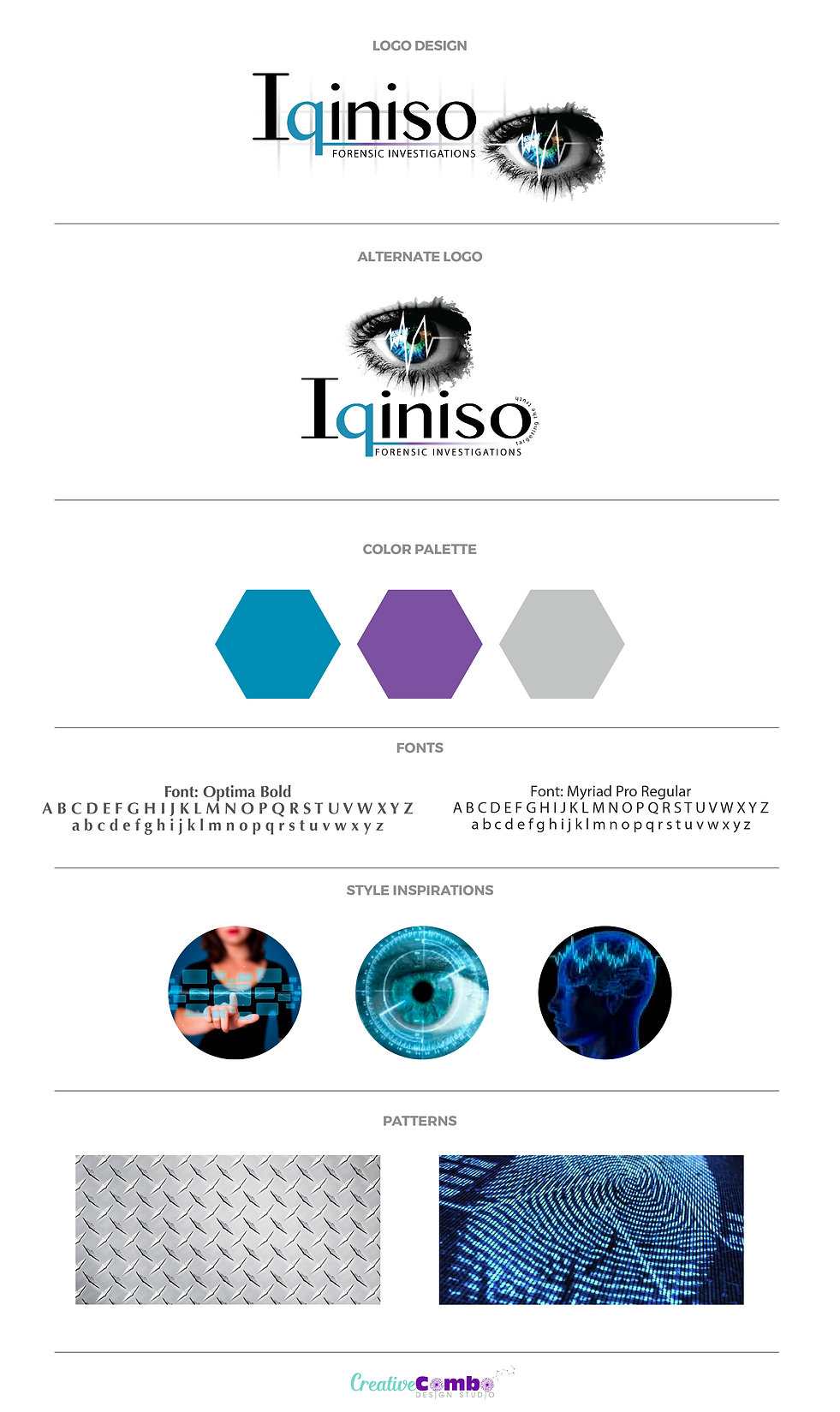 Iqiniso Forensic Investigations Company Brand Design