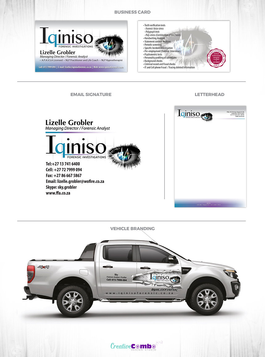 Iqiniso Forensic Investigations Corporate Identity Design